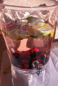 berry-infused citrus water